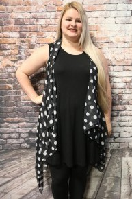 Couldn't Be Happier Polka Dot Kimono Vest in Multiple Colors - One Size Fits Most