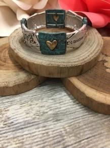 1 Corinthians Teal Love Bracelet