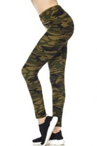 Lost In The Jungle Camo Full Length Leggings- One Size