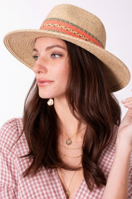 Summer Lovin' Straw Hat with Colorful Band Accent in Multiple Colors