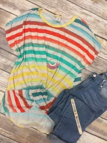 Best Of Me Striped Top - Sizes 4-20