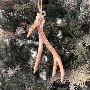 Deer Antler Ornament set of 4