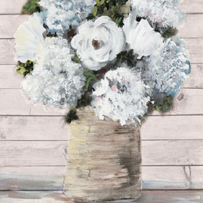 White and Blue Blooms