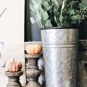 Antique Galvanized Cooler Bucket