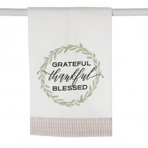 Grateful Thankful Blessed Tea Towel