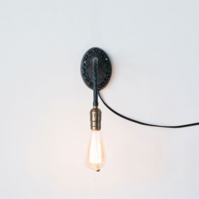Metal Wall Sconce Pull Chain Light