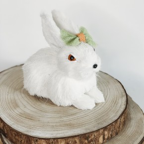 Sitting Bunny With Bow