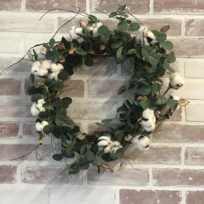 Eucalyptus Cotton Wreaths