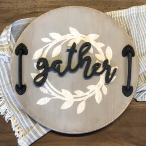 Round Gather Tray Craft Box