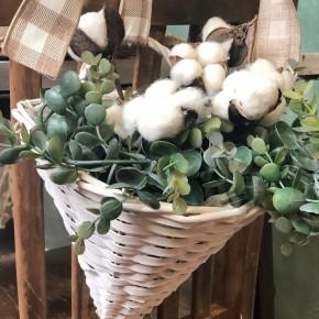 White Woven Wall Basket