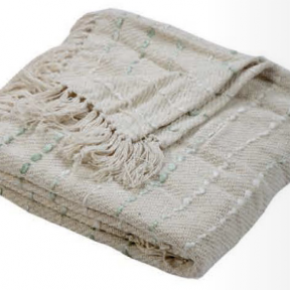 Cream and Mint Throw