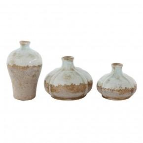 Terra-Cotta Vases Set of 3