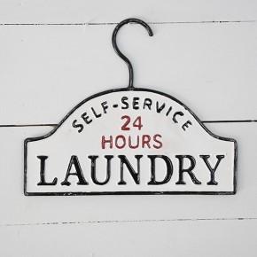 Small Tin Laundry Sign