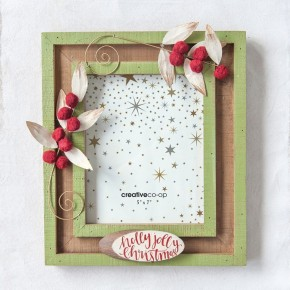 Holly Jolly Picture Frame