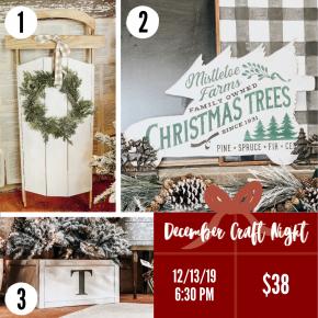 December Craft Night 12/13/19