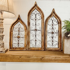 Gothic Wood & Iron Shutters