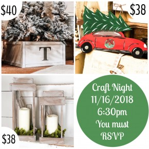 Craft Night Deposit 11/16/2018
