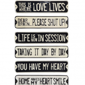 Assorted Embossed Tin Wall Decor