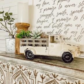 White Chippy Farm Truck