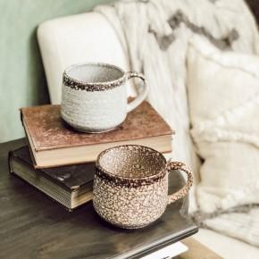 Marble Crackled Soup Mug