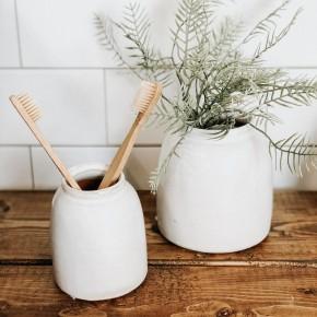 White Terra-Cotta Vase