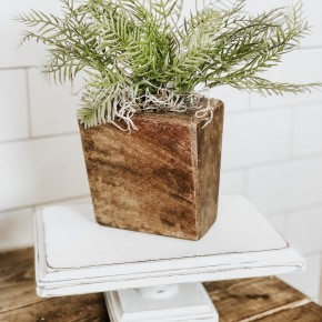 Distressed Wooden Pedestal