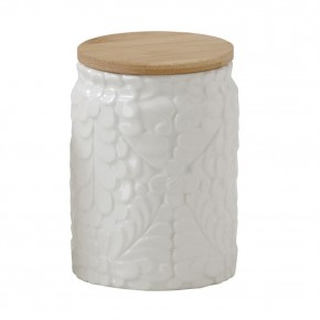 Ceramic Canister With Succulent Pattern