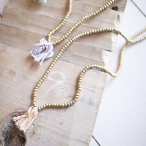 Brass Beaded Necklace