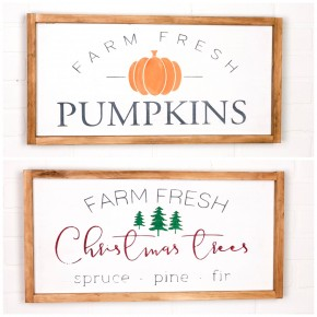 Fall/Christmas Reversible Sign Craft Box