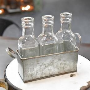 Tin 3 Bottle Holder