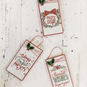 Set of 3 Gift Tag Ornaments