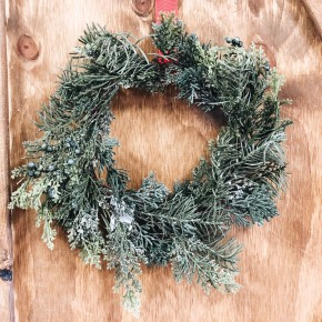 Glitter Cedar Wreath