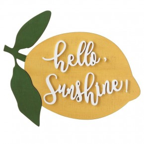 Hello, Sunshine Lemon Wall Decor
