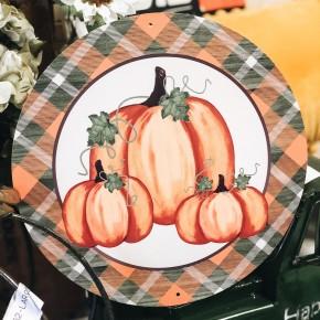 Pumpkin Wreath Plaque