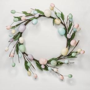 Colored Egg Wreath
