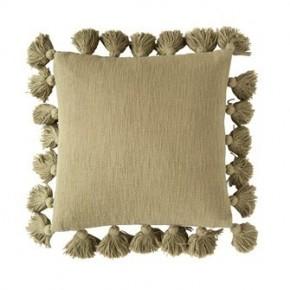 Olive Tassel Pillow