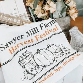Harvest Festival Tea Towel