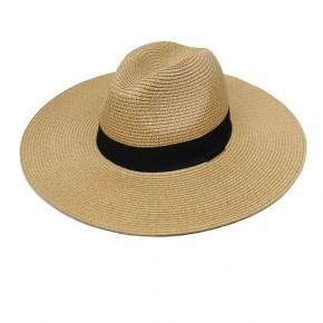 Black Banded Panama Hat