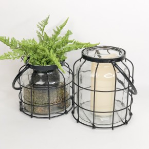Caged Candle Jar