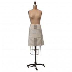Cotton Striped Waist Apron w/ Pocket