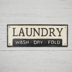Tin Laundry Sign