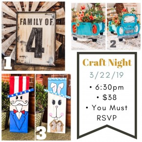 Craft Night Deposit 3/22/19