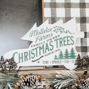 Christmas Trees Car Sign