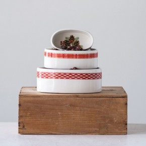Oval Stoneware Ramekins
