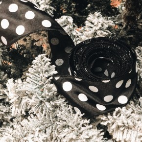 Black & White Dot 10 Yard Ribbon