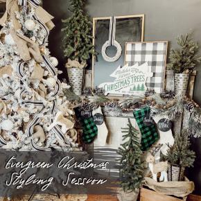 Evergreen Christmas Styling