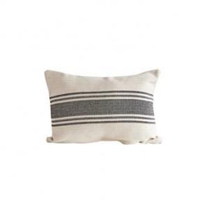 Black Grain Stripe Lumbar Pillow
