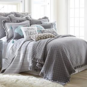 Grey Stonewashed Quilt Set
