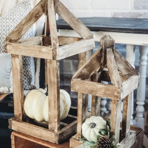 Natural Wooden Lantern