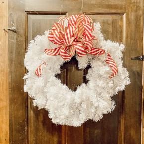 White Colorado Wreath